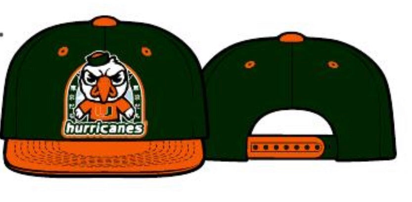 Miami Hurricanes Youth Tokyodachi  Flat Brim Snap Back