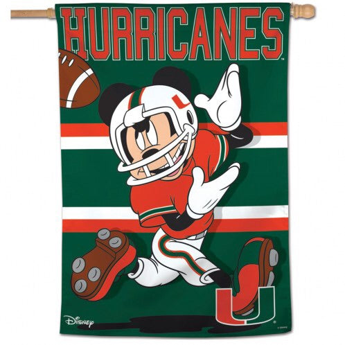 "Miami Hurricanes Disney 28"" x 40"" Vertical Flag"