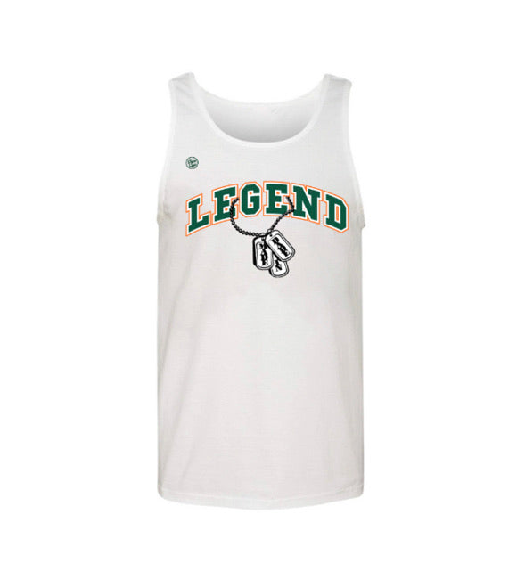 Miami Hurricanes Dyme Lyfe Sean Taylor Legend Tank Top - White