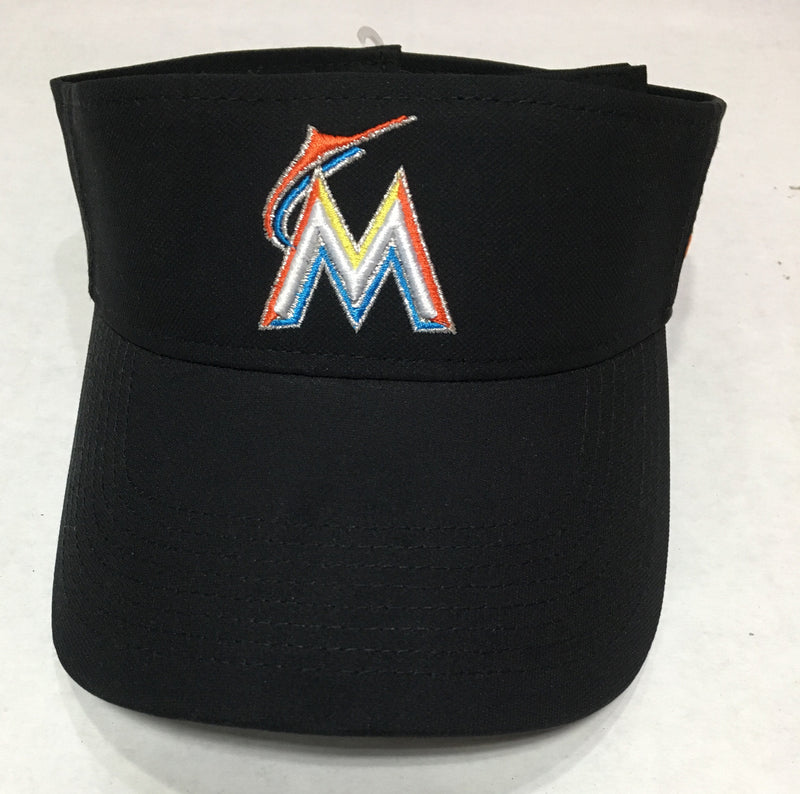 Miami Marlins Nike Adjustable Dri-Fit Visor - Black