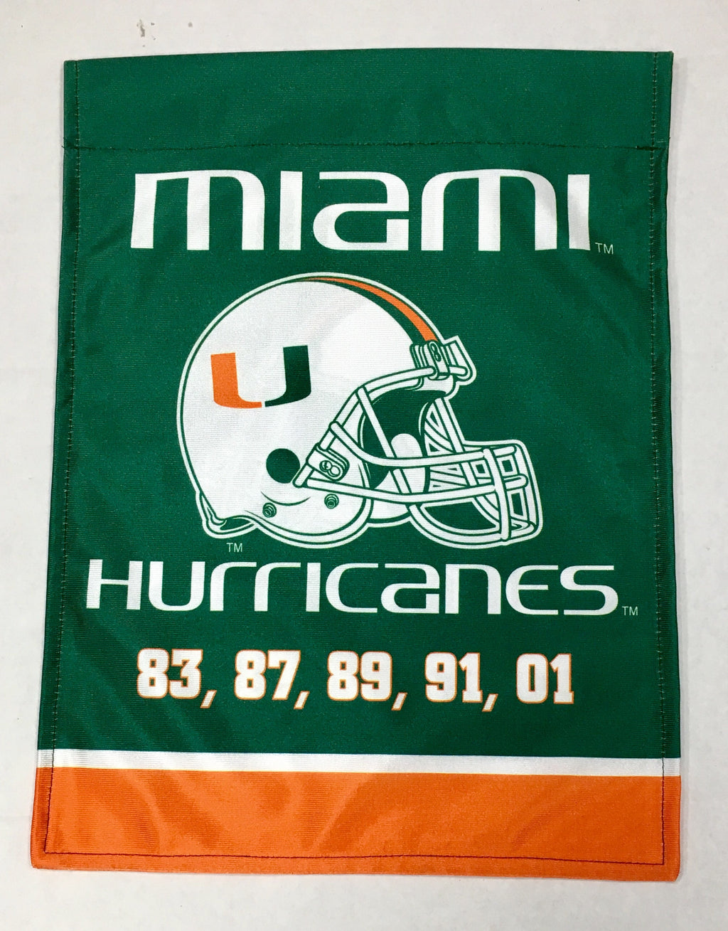 Miami Hurricanes Championship Years Garden Flag