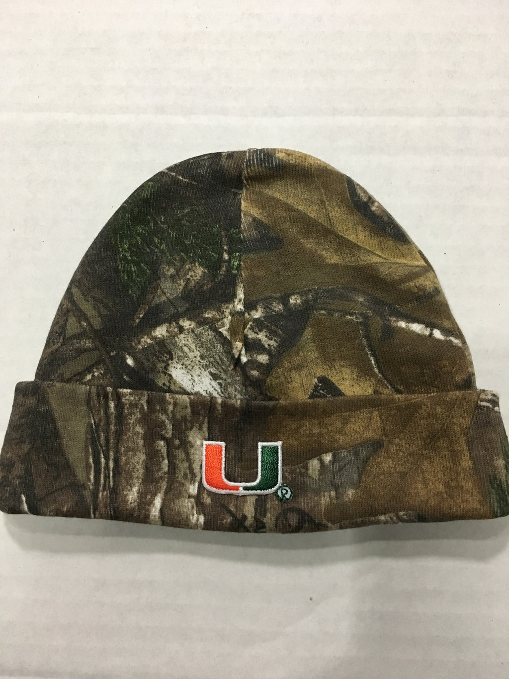 Miami Hurricanes Infant Knit Cap - Camo