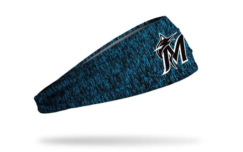 Miami Marlins Stretch Headband - Heathered