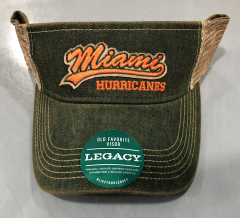 9072d7f63bc Miami Hurricanes Legacy Old Favorite Visor Snapback - Green.   21.95. Miami  Hurricanes Women s Paper Woven Sun Hat - Madeline