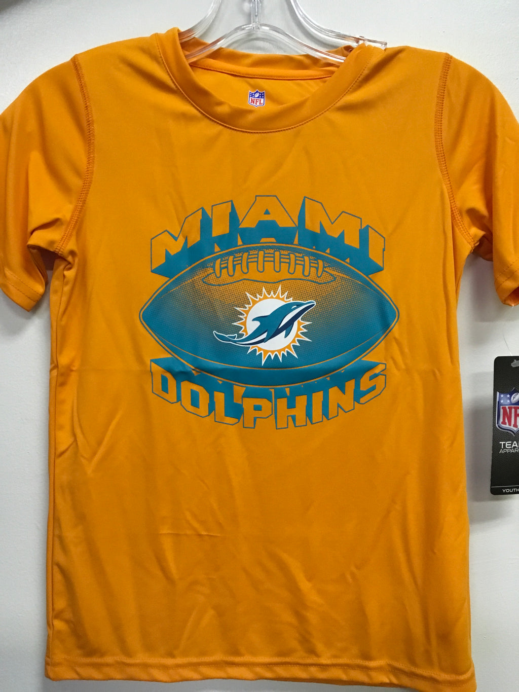 Miami Dolphins Youth Dri-Tek Satellite T-Shirt - Orange