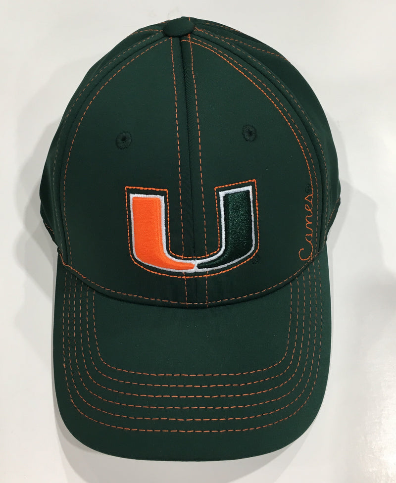 Miami Hurricanes U Canes One Fit Cap - Green