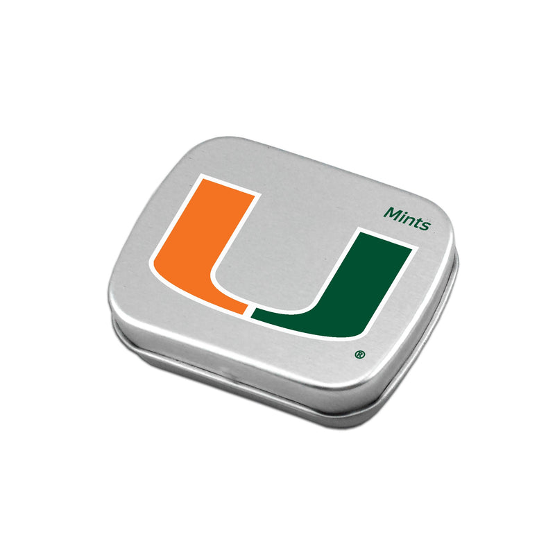 Miami Hurricanes Small Mint Tin w/Sugar Free Peppermints