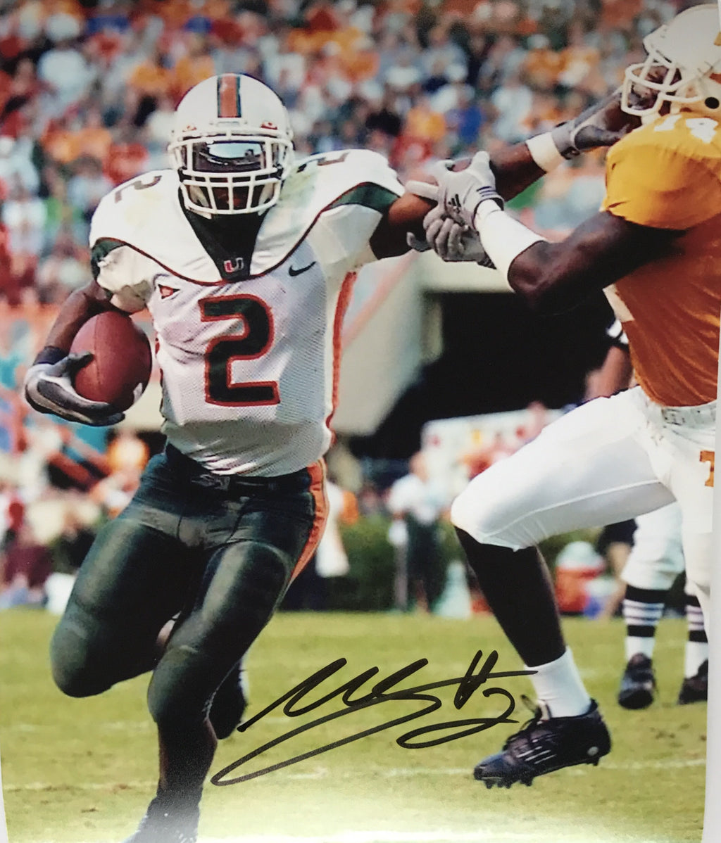 Autographed Photo Willis McGahee 8 x 10