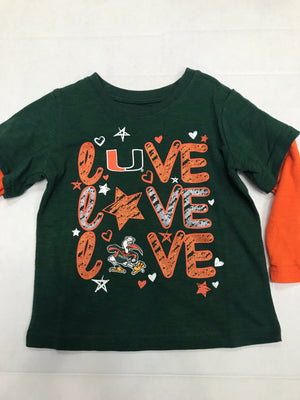Miami Hurricanes Toddler Rollin 2 Long Sleeve T-Shirt