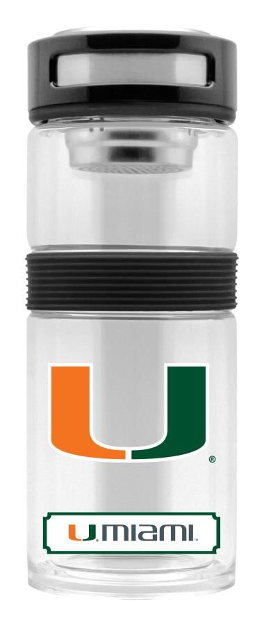 Miami Hurricanes Double glass Travel Thermos