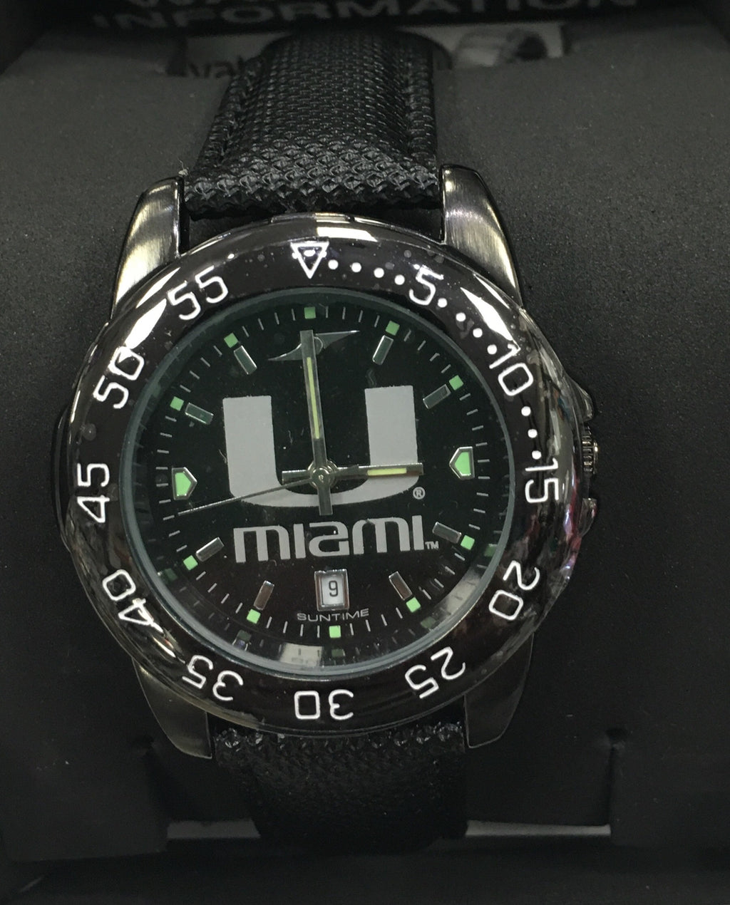 Miami Hurricanes Men's Fantom Bandit Leather Watch