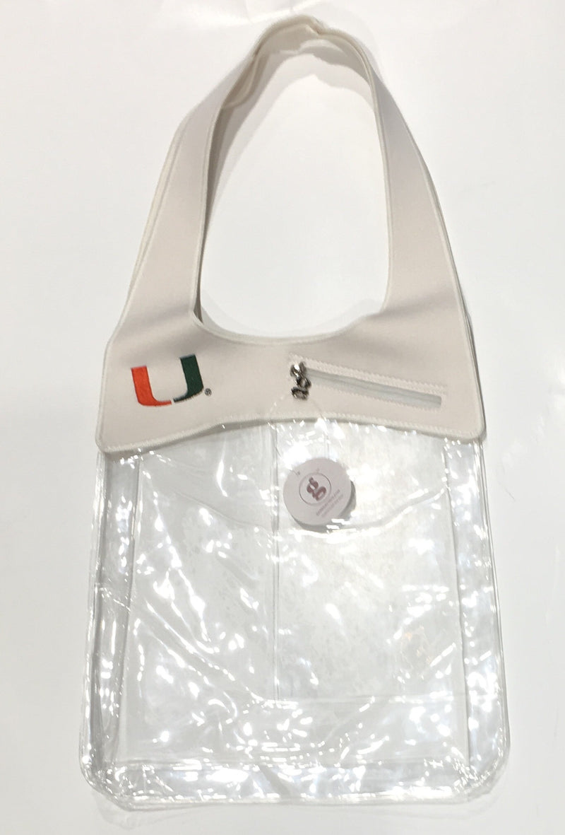 Miami Hurricanes SoHo Clear Tote Bag - White