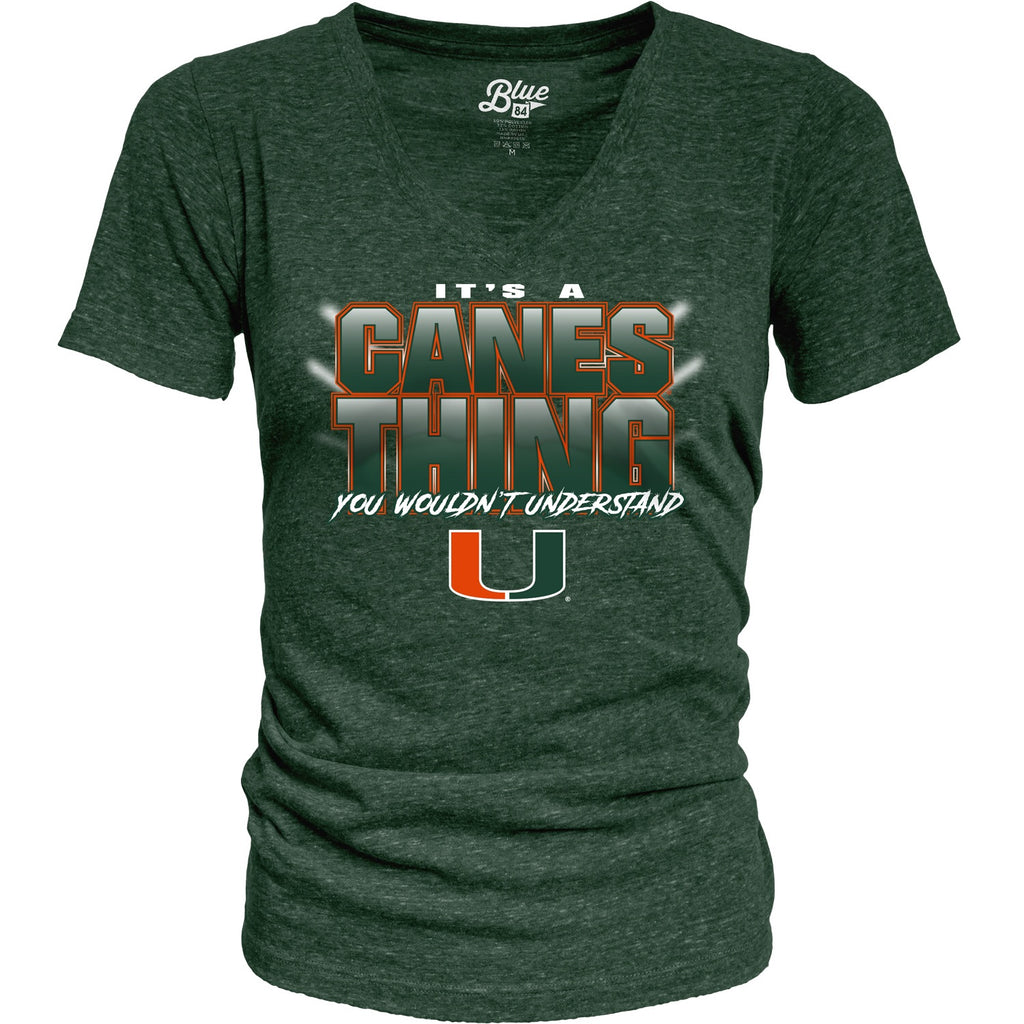 Miami Hurricanes Women's It's a Canes Thing Tri-Blend Shirt - Green