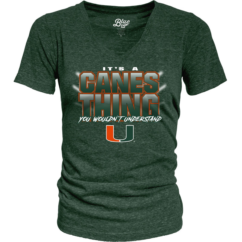 Miami Hurricanes Women's It's a Canes Thing Tri-Blend Shirt - Heather Green