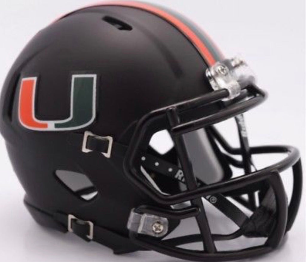Miami Hurricanes Riddell Speed Mini Helmet - Miami Nights