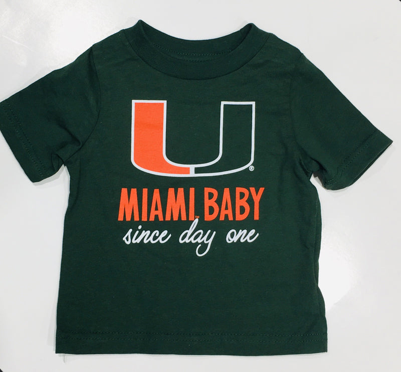 Miami Hurricanes Infant Miami Baby Since Day One T-Shirt - Green