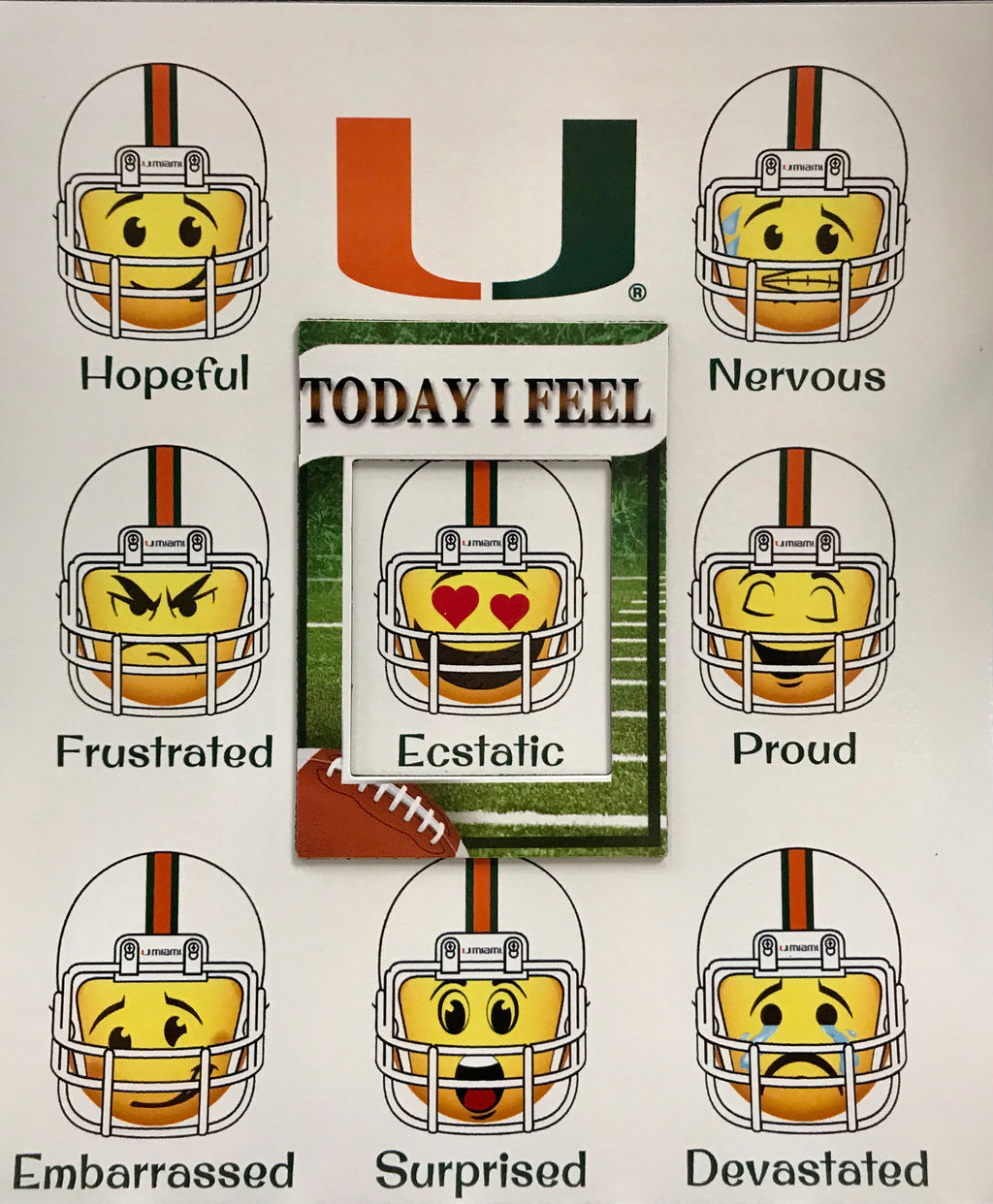 Miami Hurricanes Emotion Mood Magnet