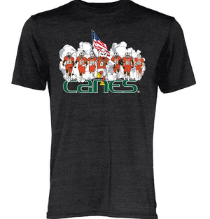 Miami Hurricanes Sebastian Running Smoke T-Shirt - Black