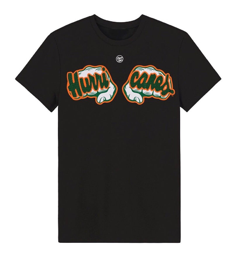 Miami Hurricanes Dyme Lyfe Touchdown Bling Rings T-Shirt - Black