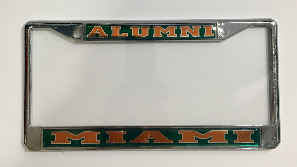 Miami Hurricanes Metal License Plate Frame - Alumni