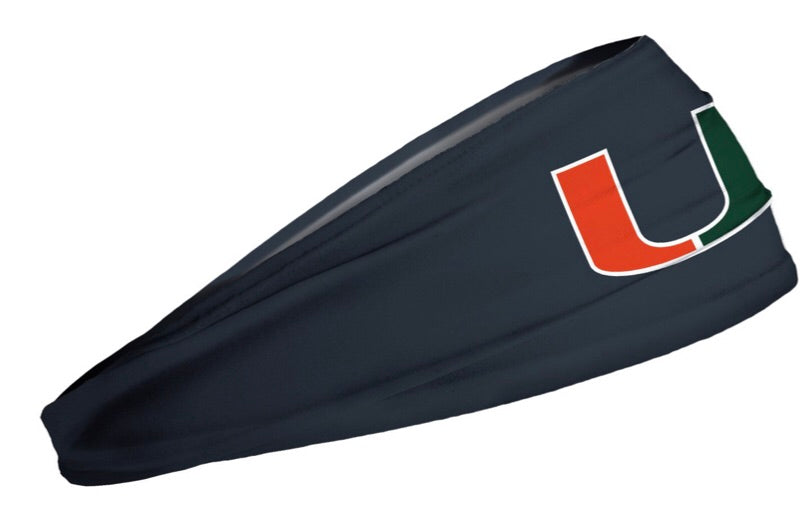 Miami Hurricanes Headband U Logo - Grey