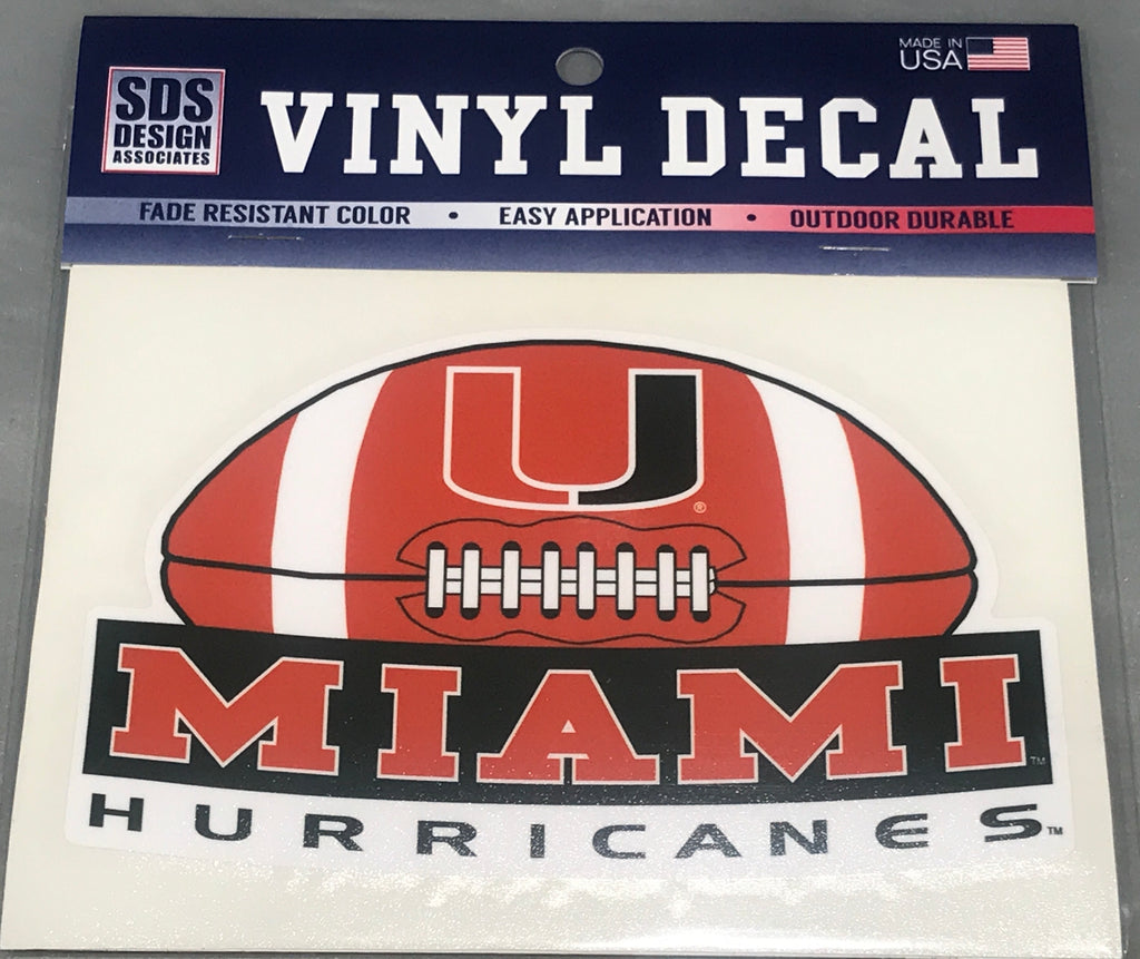 "6"" Miami Football Banner Decal"