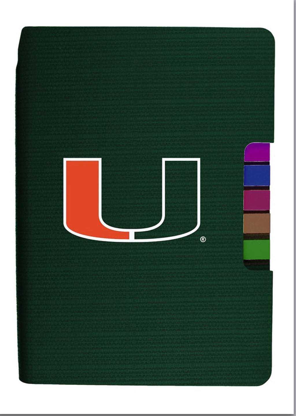 Miami Hurricanes Journal w/Tabs - Green