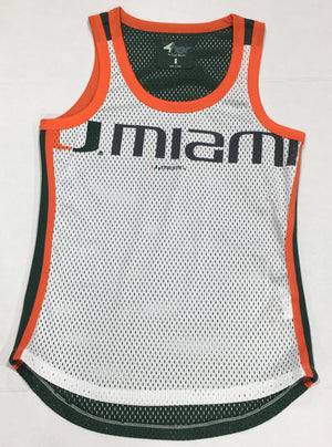 Miami Hurricanes Women's Jersey Tank Top - White