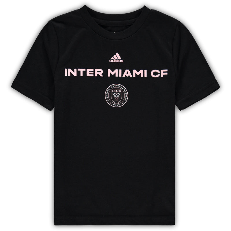 Inter Miami CF Kids adidas Wordmark T-Shirt - Black