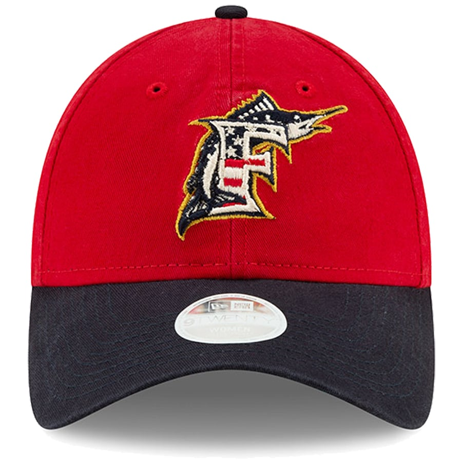 Miami Marlins Women's 4th of July Stars & Strips Adjustable Hat