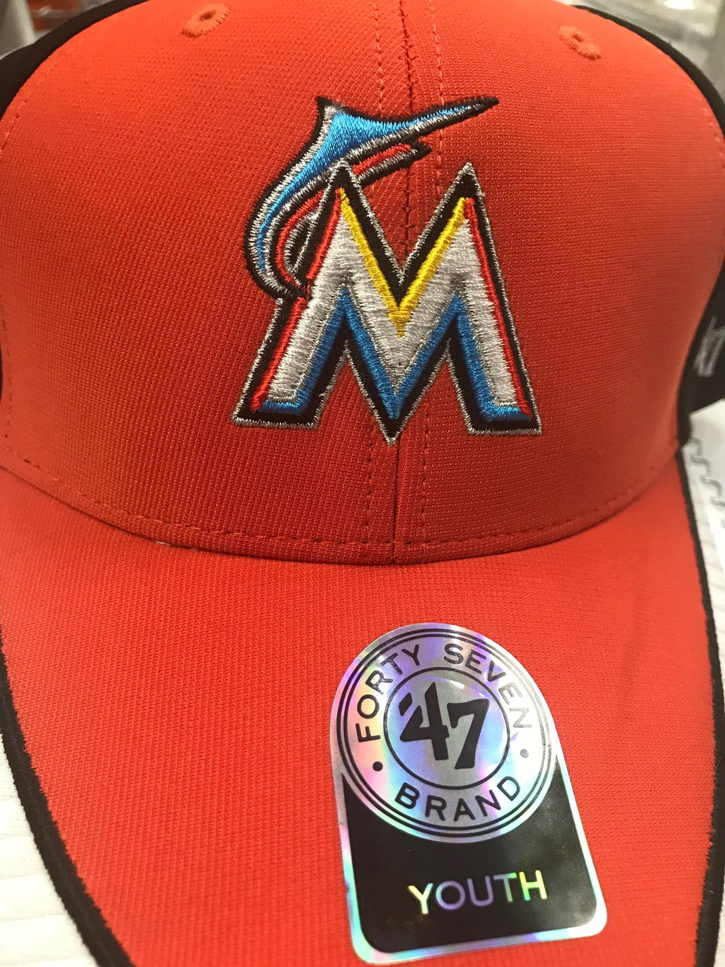 fbbe6deb4085a Miami Marlins Youth Mod Hat – CanesWear at Miami FanWear