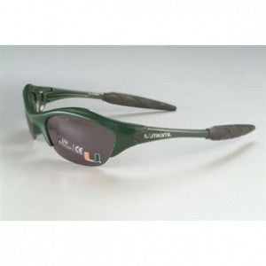 Miami Hurricanes Sunglasses Half Frame - CanesWear at Miami FanWear Sunglasses AES CanesWear at Miami FanWear