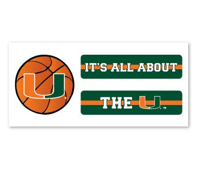 Miami Hurricanes Basketball Eyeblack - CanesWear at Miami FanWear  CanesWear at Miami FanWear CanesWear at Miami FanWear