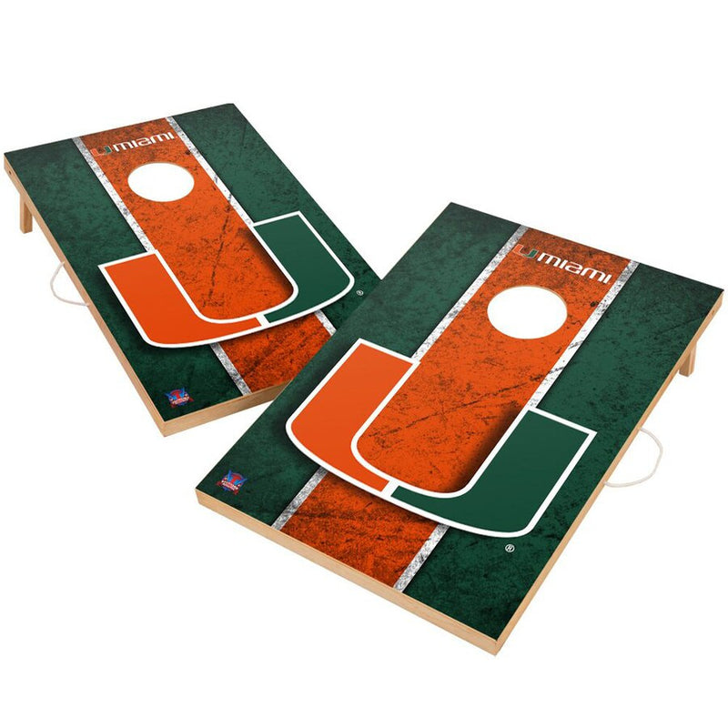 Miami Hurricanes Corn Hole Game - 2 x 3'