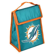 Miami Dolphins Lunch Bag - Big Logo Velcro - CanesWear at Miami FanWear General Forever Collectibles CanesWear at Miami FanWear