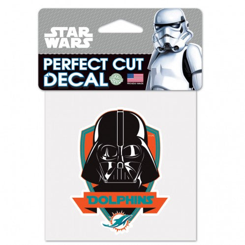 Miami Dolphins Star Wars Resistance  Die Cut Decal- Vader-  4x4