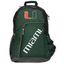 Miami Hurricanes Elite Backpack - Green - CanesWear at Miami FanWear General Forever Collectibles CanesWear at Miami FanWear