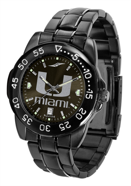 Miami Hurricanes FantomSport AnoChrome Gunmetal Black Faceplate Watch