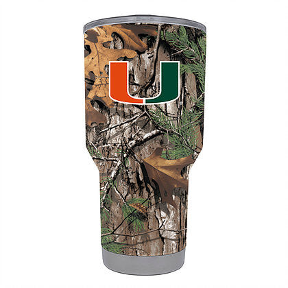 Miami Hurricanes GameTime SideKicks S/S Tumbler Real Tree Camo - 30 Ounces