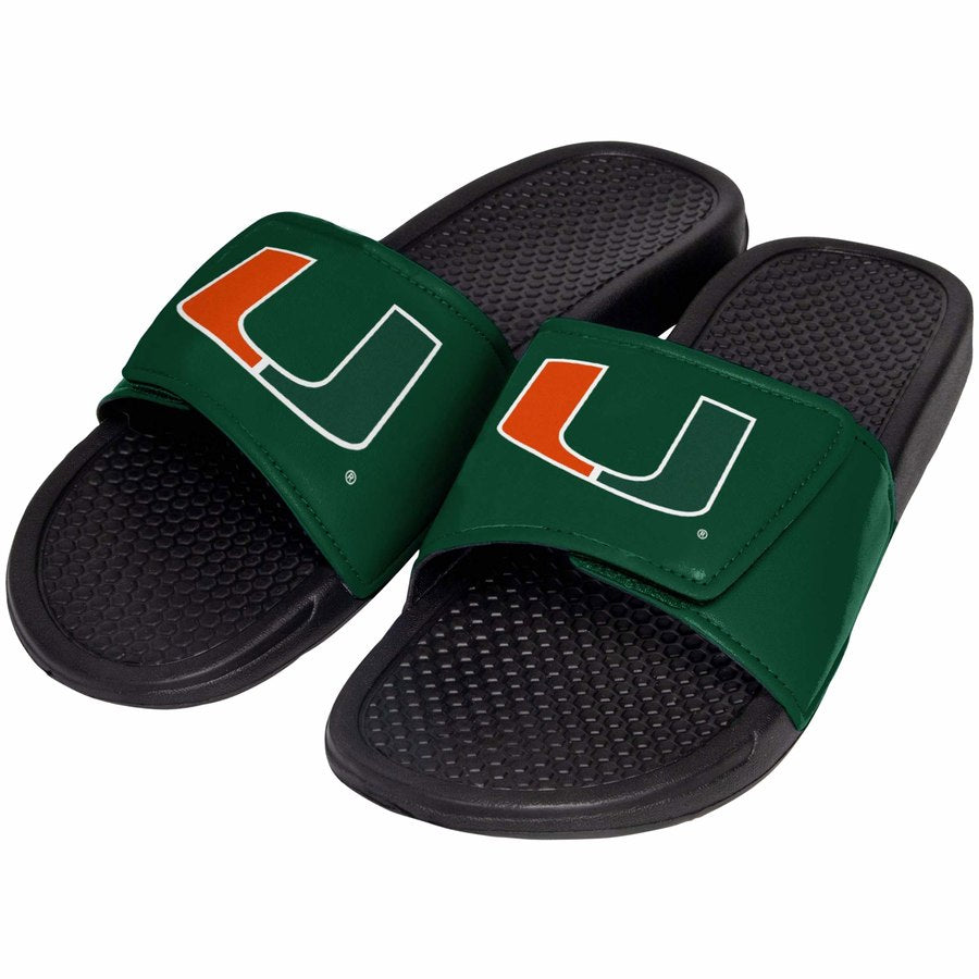 Miami Hurricanes Cropped Big Logo Slides- Youth