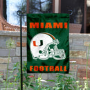 "Miami Hurricanes Football Helmet Garden Flag - 13"" x 18"""