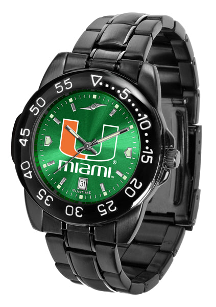 Miami Hurricanes FantomSport AnoChrome Gunmetal Green Faceplate Watch