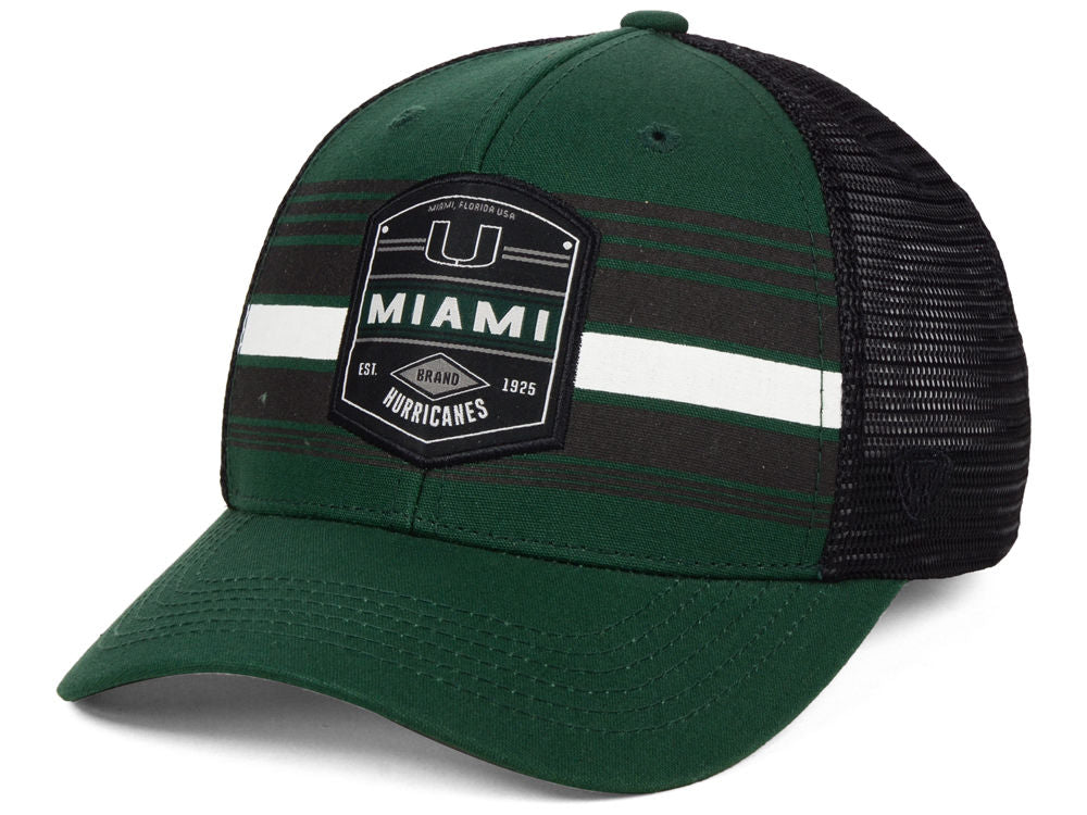 Miami Hurricanes Branded Trucker Cap- Green