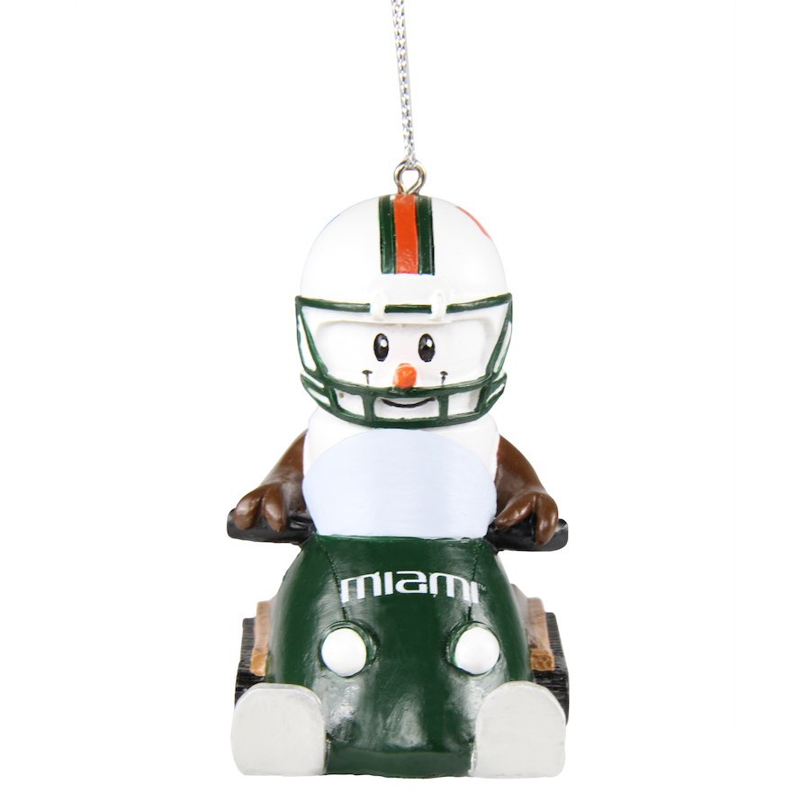 Miami Hurricanes S'Mores Snowmobile Ornament