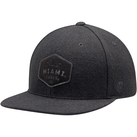 7b1a7477036 Miami Hurricanes Top of the World Intro Adjustable Snapback Hat - Black