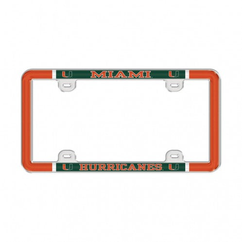 Miami Hurricanes Varsity Domed License Plate Frame