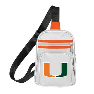 Miami Hurricanes Mini Cross Backpack - White Strap