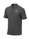 Miami Hurricanes  Columbia Omni-Wick Members Polo Sebastian Logo - Black/Grey Stripes