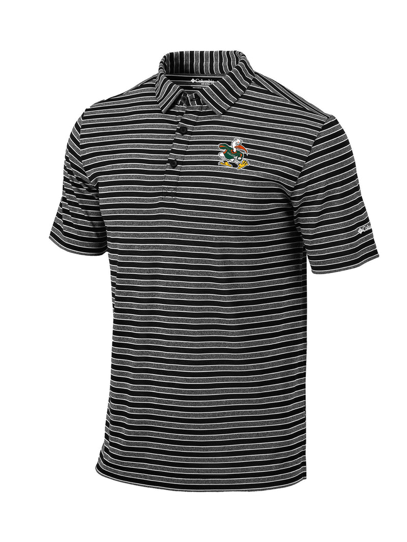 Miami Hurricanes  Columbia Omni-Wick Members Polo