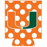Miami Hurricanes Can Hugger - Orange Polka Dots - CanesWear at Miami FanWear Tailgate Gear JayMac Sports CanesWear at Miami FanWear